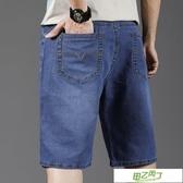 男士短褲 夏天加肥加大尺碼牛仔短褲男薄款五分七分胖子肥佬中年人爸爸棉彈力【降價兩天】