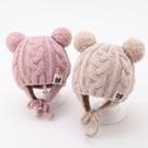 針織帽嬰兒帽子秋冬季6個月-3歲1護耳兒...