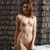 蕾絲內衣套裝(胸罩+內褲)-光面無痕半罩性感內衣4色73ho63[時尚巴黎]