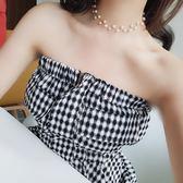 雙十二  短款簡約珍珠鎖骨鍊韓國脖頸項鍊女日韓創意潮人學生脖子飾品頸鍊  無糖工作室