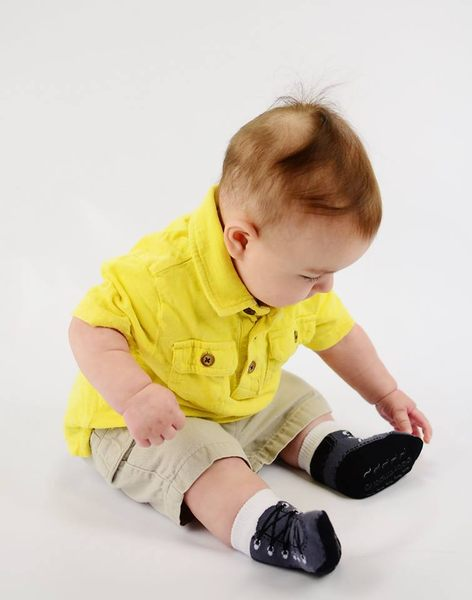 美國 Baby Emporio 造型棉襪 造型靴子 嬰兒襪 襪子 0-9M 3件組 (禮盒)