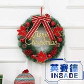 聖誕節裝飾品30cm花環門掛件花圈掛飾酒店櫥窗場景布置【英賽德3C數碼館】