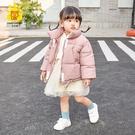 女童棉服 女童棉衣新款兒童羽絨棉服洋氣派克服外套寶寶短款棉襖冬-Ballet朵朵