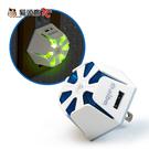 【貓頭鷹3C】aibo AC202 二合一功能 雙USB充電器+LED觸控小夜燈