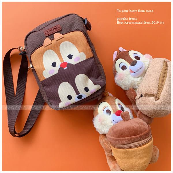 斜背包-迪士尼系列tsum tsum疊疊大頭帆布斜背包-共5色-A17173070-天藍小舖