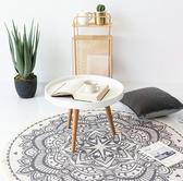 客廳墊子地墊圓形家用茶幾地墊客廳臥室地墊北歐床邊地毯圓形地墊