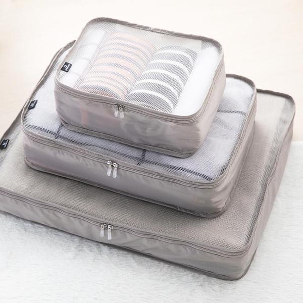 出口日本旅行收納袋可摺疊防水網格衣物整理袋大容量行李箱收納包 晴天時尚