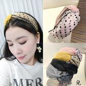 發箍韓國簡約布藝森女蕾絲頭箍