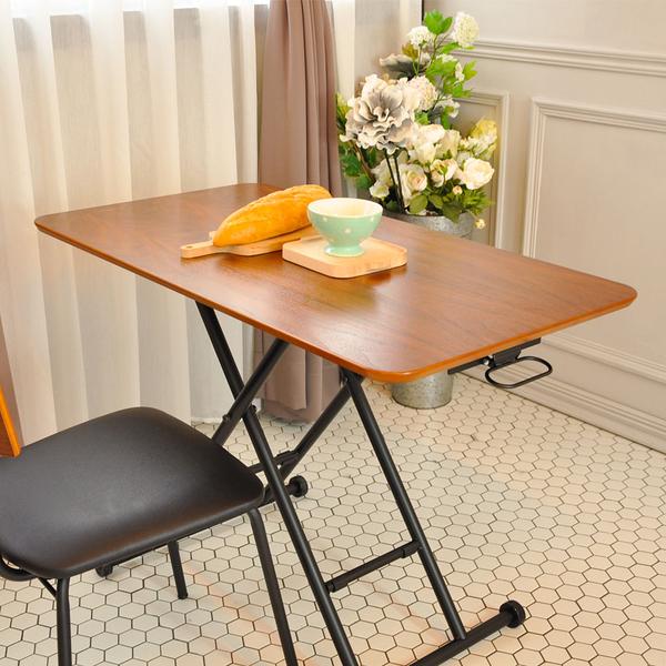 工作桌/餐桌/升降桌/日式茶几桌/胡桃木色 Lift Table MIT台灣製【5011-1BR】Tasteful 特斯屋