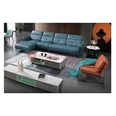 [紅蘋果傢俱]義式J8057沙發(另售 茶几 地櫃 單椅)L型沙發 牛皮沙發 實木內框架 極簡 義式客廳