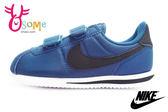 NIKE阿甘鞋 中童鞋 防潑水 Cortez Basic Nylon (PSV) 復古運動鞋N7285#藍◆OSOME奧森童鞋/小朋友