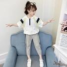 女童套裝 夏裝2020新款洋氣網紅兒童韓版大童兩件套夏季時髦潮運動 JX1548『Bad boy時尚』