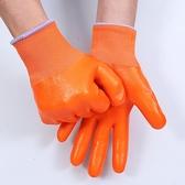 勞保手套涂膠浸膠耐磨全膠pvc滿掛塑膠防水膠皮加厚橡膠牛筋手套. 夏季狂歡
