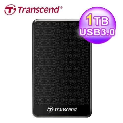 【台中平價鋪】全新 Transcend 創見 SJ25A3K 1TB 2.5吋 外接硬碟 黑色