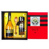 【養蜂人家】雙喜醋蜜禮盒(優選Taiwan龍眼蜜425g+蜂蜜醋600ml)