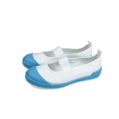 MoonStar 好穿脫 健康室內鞋 白/淺藍 中童 童鞋 MSCNF0538 no389