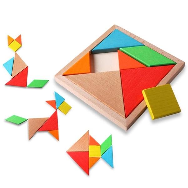 7七巧板小學生教具歲用一年級4兒童益智力開發拼圖6玩具男孩3女孩【快速出貨】