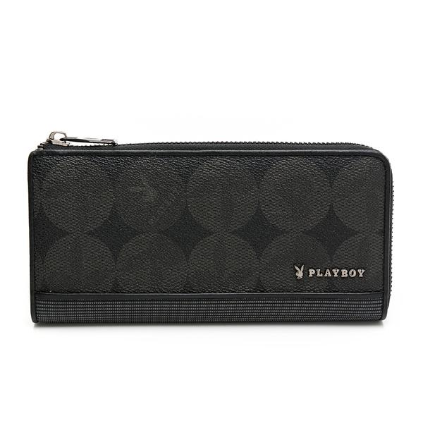 PLAYBOY - L拉長夾 League系列 - 黑色