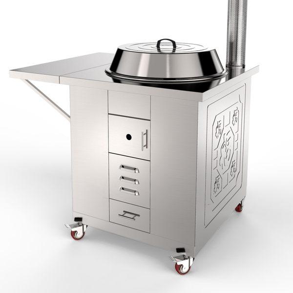 新款不鏽鋼家用柴火爐室內多功能無煙可移動省柴土爐戶外爐爐 618年中慶