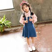 女童牛仔背帶裙2019新款中小兒童韓版洋氣連身裙3-5-7歲寶寶夏裝 GD897『小美日記』