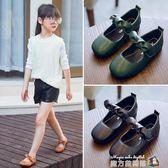 兒童皮鞋女童黑色公主鞋表演出鞋中大童小學生皮鞋四季女單鞋 魔方數碼館