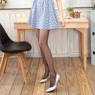 3D平紋超薄涼感T檔美腿襪 (黑色)