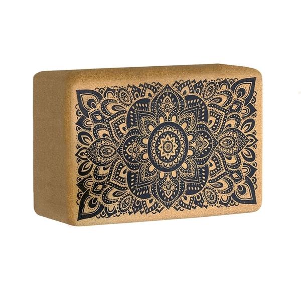 【YogaDesignLab】Cork block 軟木瑜珈磚 - Mandala