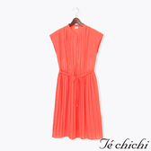 ❖ Hot item ❖ 氣質腰綁帶百摺連身裙/洋裝 - Te chichi