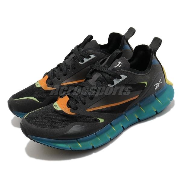 Reebok 慢跑鞋 ZIG Kinetica Horizon 黑 藍 男鞋 透氣 緩震 運動鞋【ACS】 FW5299