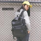 電腦包2020新款韓版學院風大容量PU皮雙肩包男女背包學生書包旅行電腦包 嬡孕哺