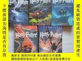 二手書博民逛書店Harry罕見Potter and the Half-Blood Prince - Book34567(5本合售)