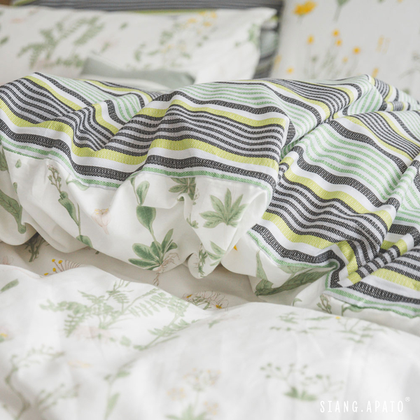 純棉 床包被套組(薄) 雙人【日有蔓草】100%精梳棉 純棉 翔仔居家