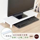 【Hopma】加寬桌上螢幕架時尚白