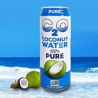 (32罐 贈4罐) 美國C2O純淨椰子水520ml 共36罐/三箱