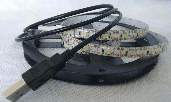 USB 2米 5050燈條 5V 贈插頭 LED燈條 200公分燈條 防水燈條 行動電源燈條