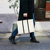 上班帆布包女2020新款手提職業辦公大學生筆記本書包大容量公文包