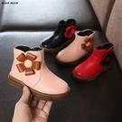 2019冬季靴子新款女童保暖棉鞋女童馬丁靴兒童牛筋底寶寶公主棉靴