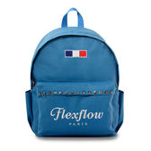 Flexflow-龐畢度系列法式復古刺繡鉚釘背包-粉藍