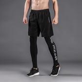籃球緊身褲男運動打底褲速干訓練壓縮長褲高彈褲健身跑步褲兩件套 【萬聖夜來臨】