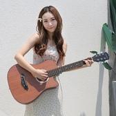 吉他 民謠木吉他初學者38寸41吉他學生新手練習青少年入門男女樂器 莎瓦迪卡
