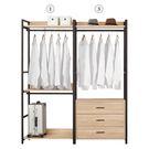 【森可家居】艾麗斯5.2尺組合衣櫥(編號1.3) 8CM590-5 開放式 衣櫃 衣架 LOFT 工業風 衣物收納