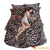 珊瑚絨床罩四件套雙面絨法蘭絨冬加厚牛奶絨床單【小獅子】