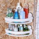 吸盤浴室置物架衛生間置物架衛浴收納架壁掛強力吸壁式廁所三角架  街頭潮人