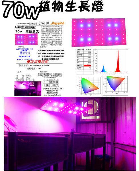 植物生長紀錄室內生長必備 70瓦植物生長燈版660nm紅光 445nm 藍光