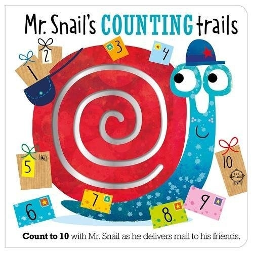 【幼兒數字學習書】MR. SNAIL'S COUNTING TRAILS /硬頁書《主題:數字.數數》