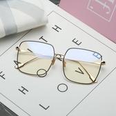 防輻射眼鏡男網紅韓版潮同款眼鏡框金絲大框復古防藍光眼睛女