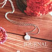 925純銀 幾何礦石造型 鎖骨鍊 短項鍊 _質物日誌Journal