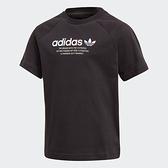 ADIDAS ADICOLOR GRAPHIC TEE 童裝 短袖 T恤 三葉草 純棉 黑【運動世界】GN7427