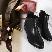 低跟短靴-歐美亮皮時尚百搭女馬丁靴2色73is40【時尚巴黎】