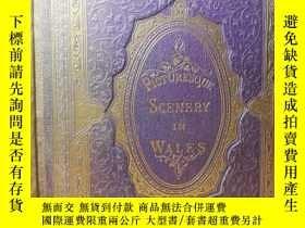 二手書博民逛書店1869年簽名贈言罕見PICTURESQUE SCENERY I